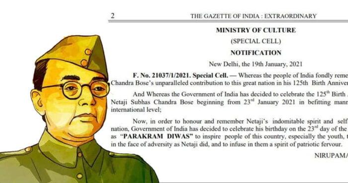 Subhash Chandra Bose Parakram Diwas